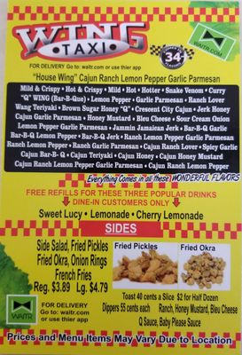 Yellow Cab Shreveport >> Wing Taxi Wings 26 Photos Chicken Wings 5769 S