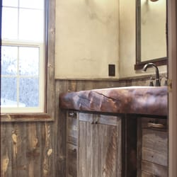 Photo Of Plaza Interiors   Redding, CA, United States. A Unique Rustic  Bathroom ...