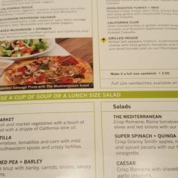Photos For California Pizza Kitchen At Cerritos Menu Yelp