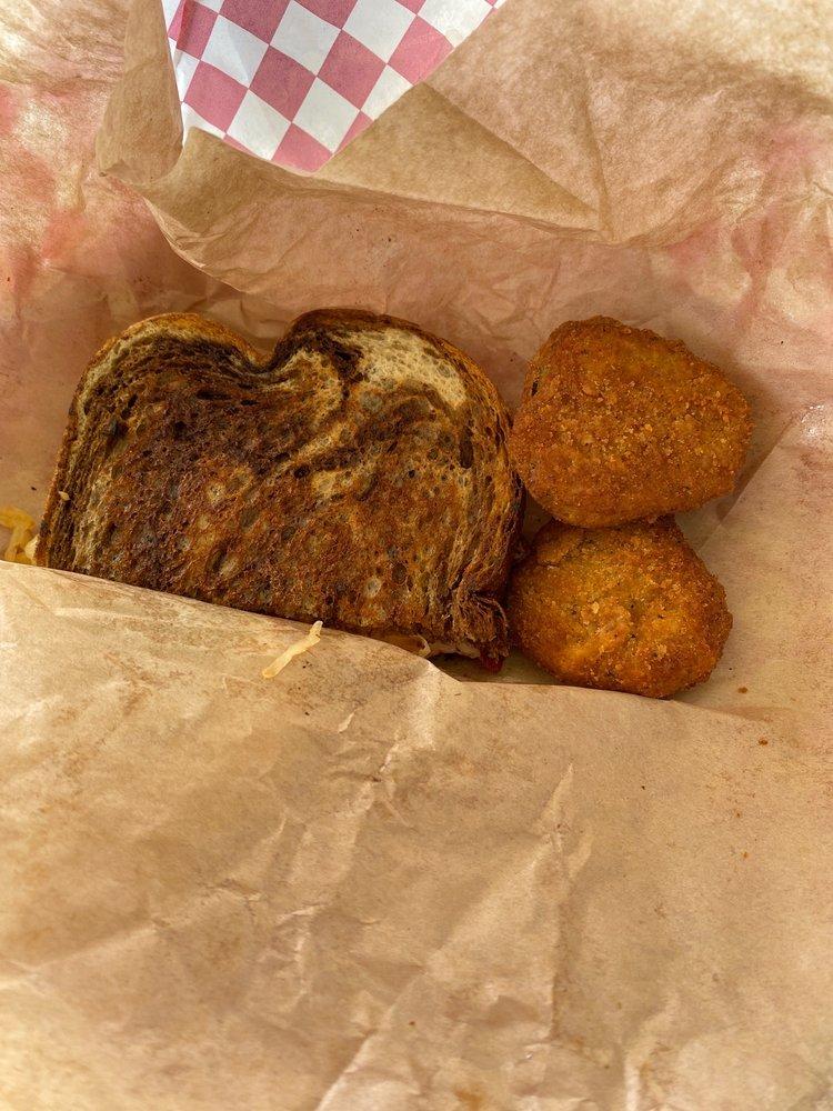 Food from Ana's burger shack