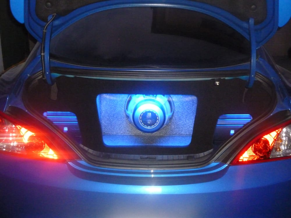 Blue led box with jl audio 12w6v2 d4 12 subwoofer alpine mrx 70 photos for pacific stereo los angeles sciox Gallery