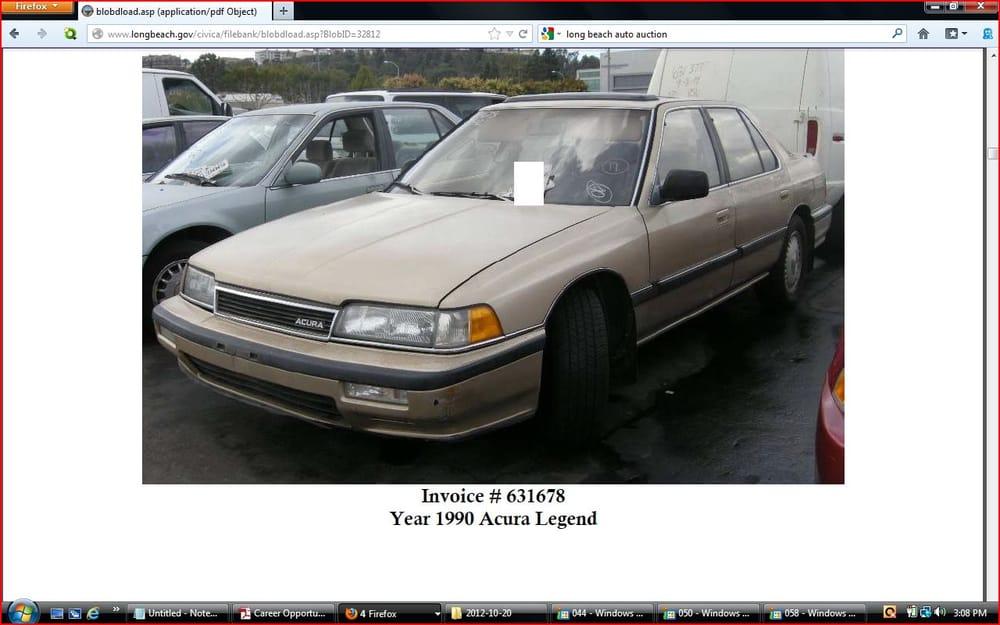 City of Long Beach Police Lien Sales/Auto Auction