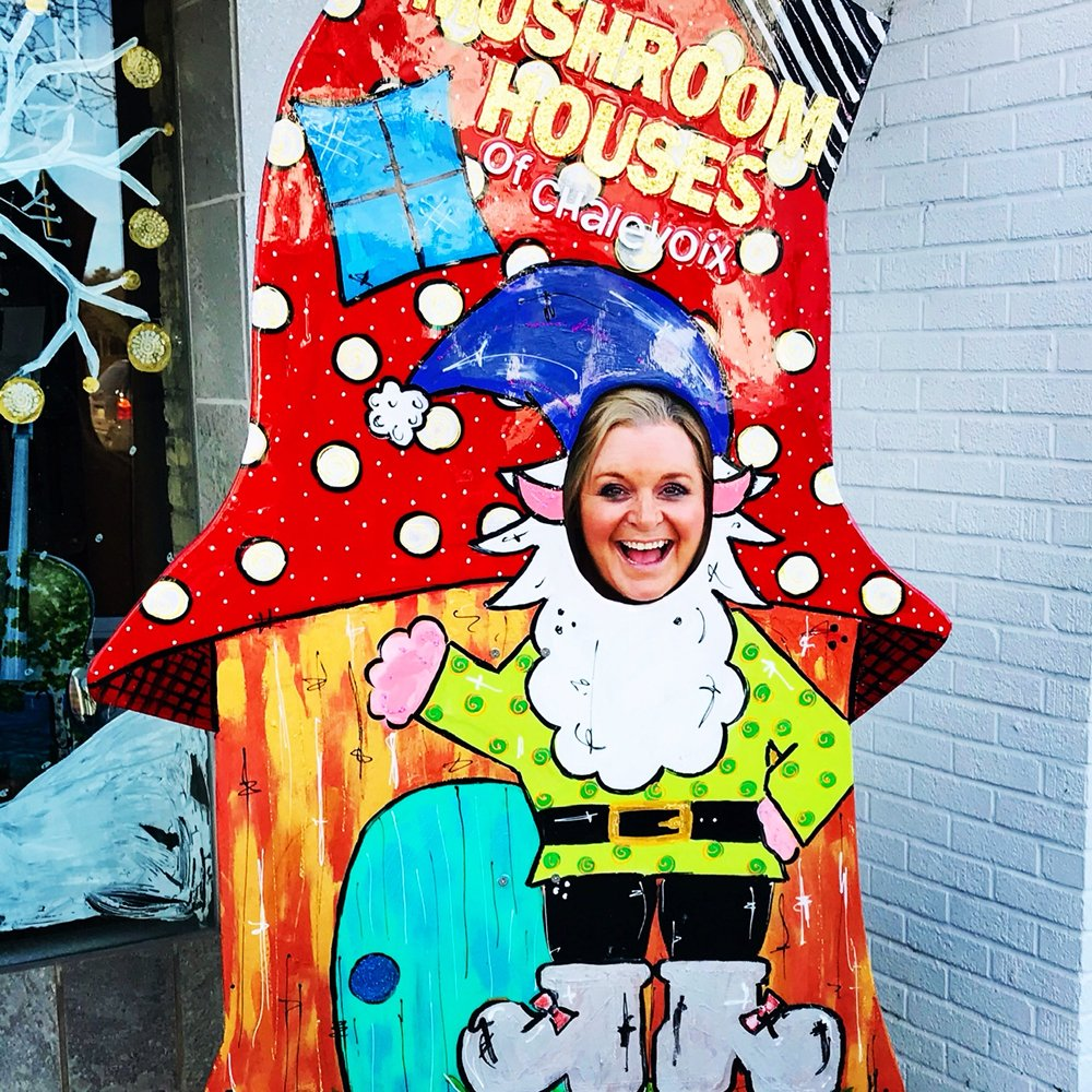 Mushroom House Tours: 211 Bridge St, Charlevoix, MI