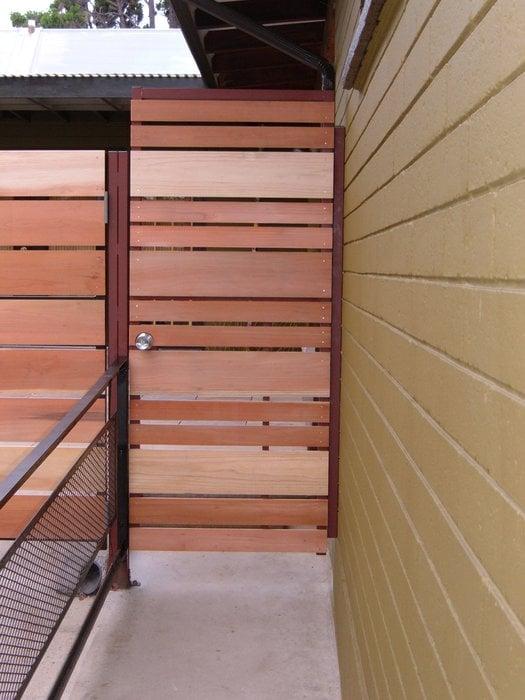 Redwood On Steel Framed Entry Gate Mission Hills Yelp