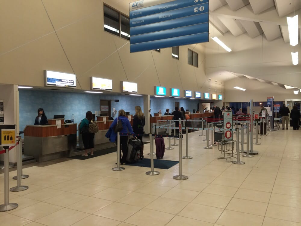 Check in counters, Air Canada, Provincial, Westjet, Sunwing