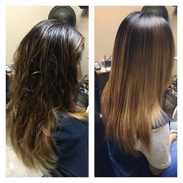 love the Brazilian blowout before and after pics! - Yelp