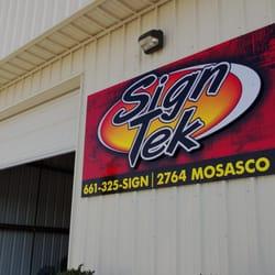 Sign Tek Inc Signmaking 2764 Mosasco St Bakersfield