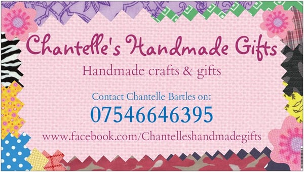 Chantelles handmade gifts arts crafts sheffield south photo of chantelles handmade gifts sheffield south yorkshire united kingdom business card colourmoves