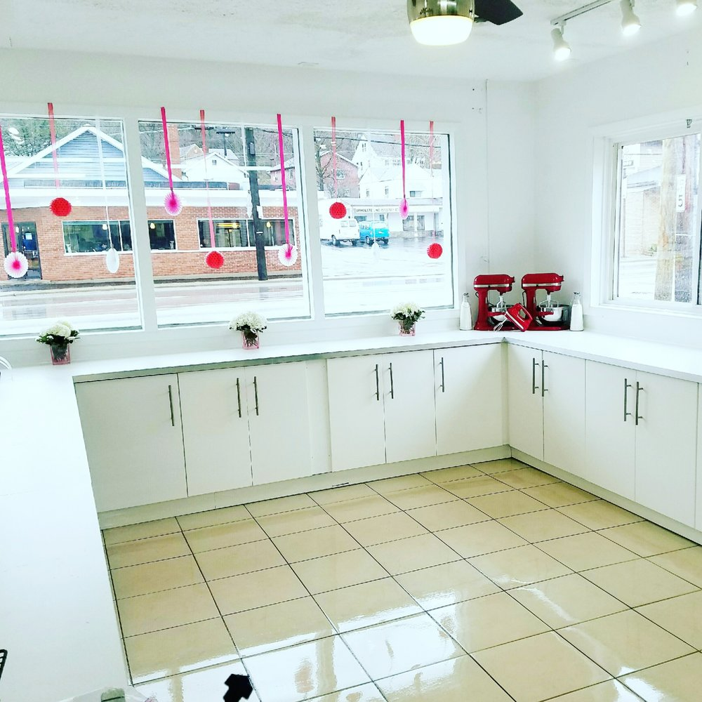 Photo of Firecracker Bakery - Cincinnati, OH, United States. This is their sparkling clean and bright kitchen.