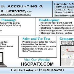 Dallas Sales Tax >> H S Accounting Tax Service Cpa Accountants 13140 Coit Rd