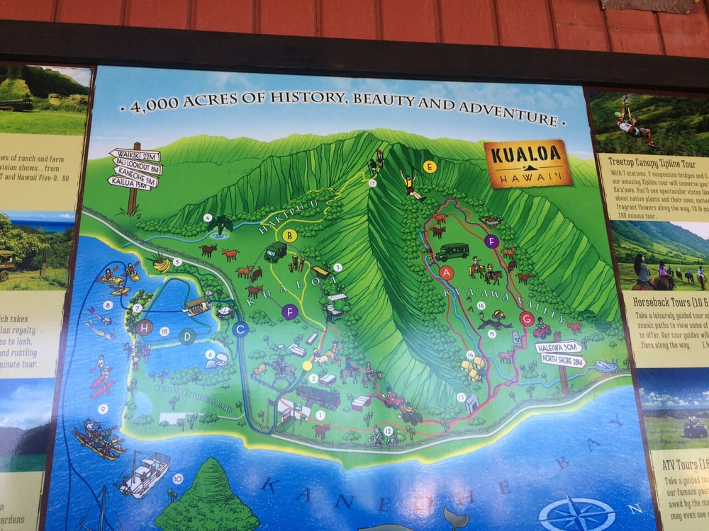 Map of the ranch tours - Yelp Kualoa Ranch Map on h-1 freeway map, valley of the temples map, bellows air force station map, halona blowhole map, old pali road map, oahu map, kaaawa valley map, waimea valley map, kona airport map, honolulu map, kailua map, iolani palace map, oregon convention center map, polynesian cultural center map, parker ranch map, kingdom of hawaii map, chinaman's hat map, niihau map, hawaii convention center map,