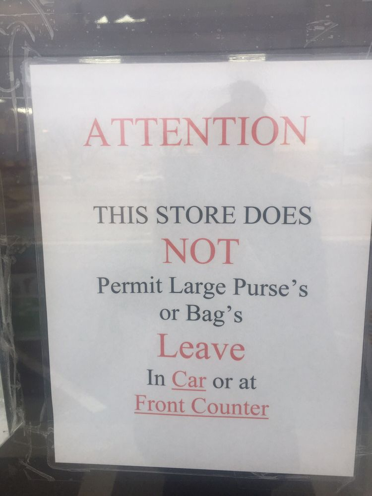 Attention No Large Purses Or Bags Yelp