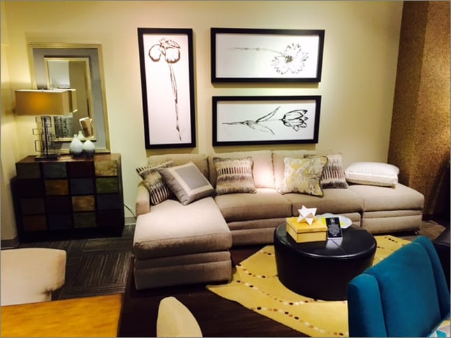 Kick back and relax on our ballard sectional with wheel for Cort furniture clearance center