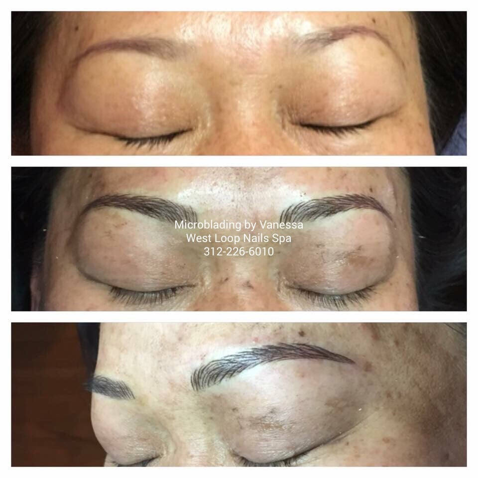Micro Blading Semi Permanent Eyebrows Tattoo New Hair Strokes
