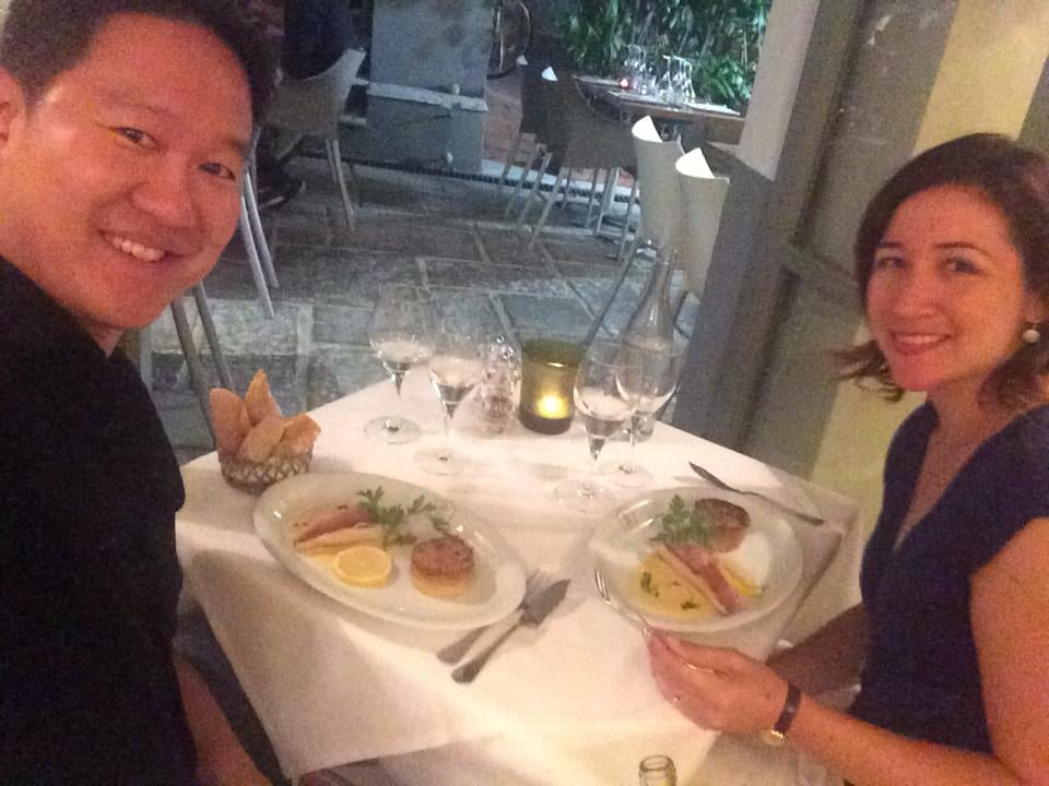 Happy diners hiding from the chain smokers yelp - La maison de marie nice ...