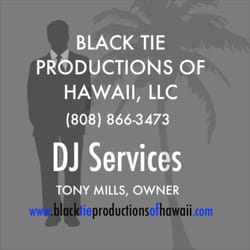 black tie productions event planning