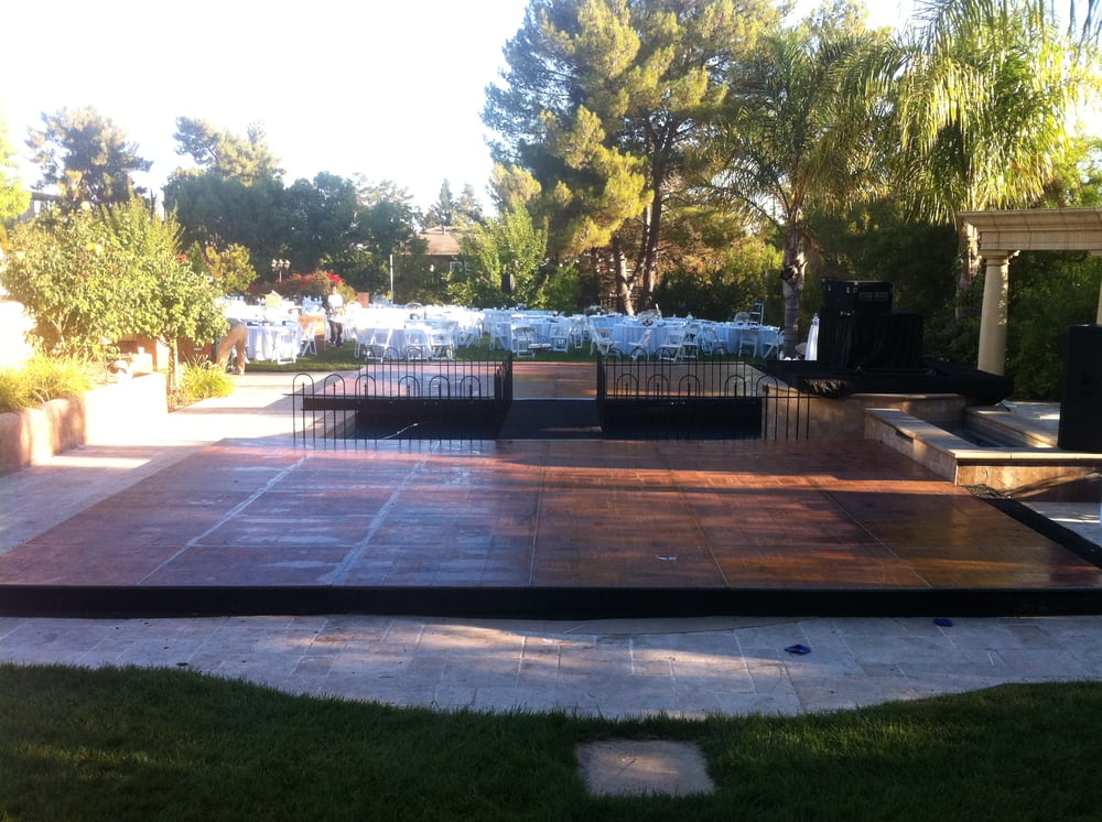 Plexi Glass Stage Dance Floor Pool Cover Rental San Diego
