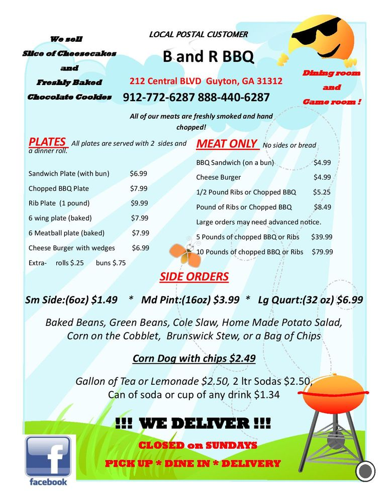 Pizza Chef & B And R BBQ: 212 Central Blvd, Guyton, GA