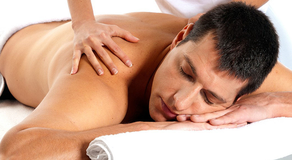 Speaking, asian male massage