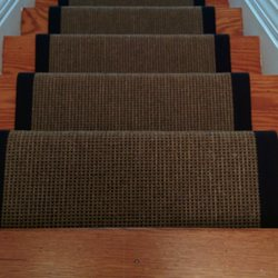 Staircase Refinishing Sand And Stain Photo Of Stairs First   Toronto, ON,  Canada. Solid Colour Carpet Runner With