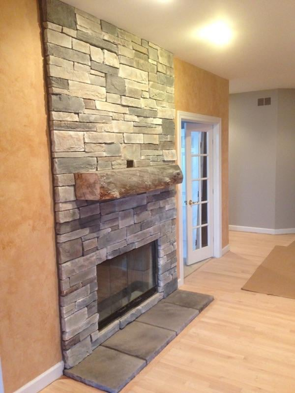 Fireplace Done In Echo Ridge Country Ledgestone By Boral