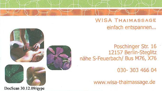 wisa thaimassage massage poschingerstr 16 steglitz berlin telefonnummer yelp. Black Bedroom Furniture Sets. Home Design Ideas