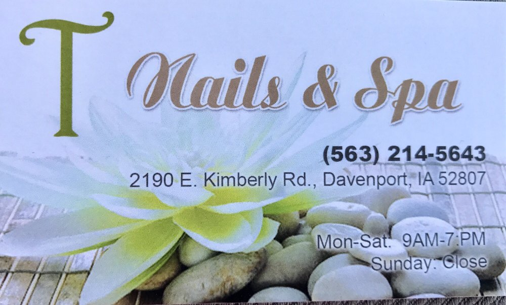 T Nails & Spa: 2190 E Kimberly Rd, Davenport, IA