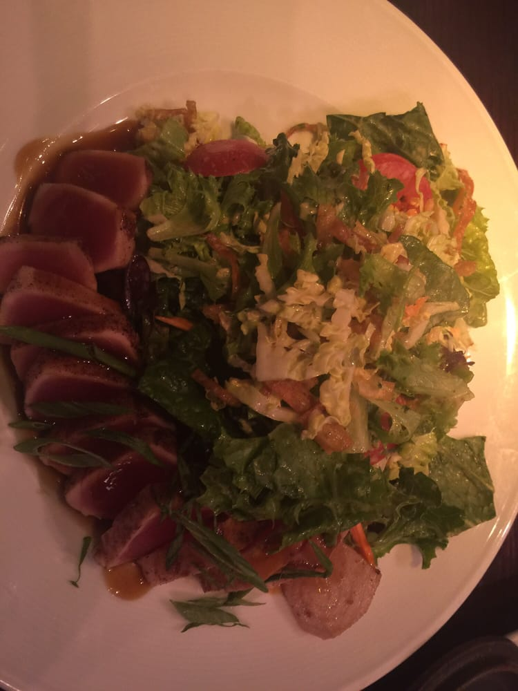 Asian ahi salad. A bit on the creamy side but tasty - Yelp