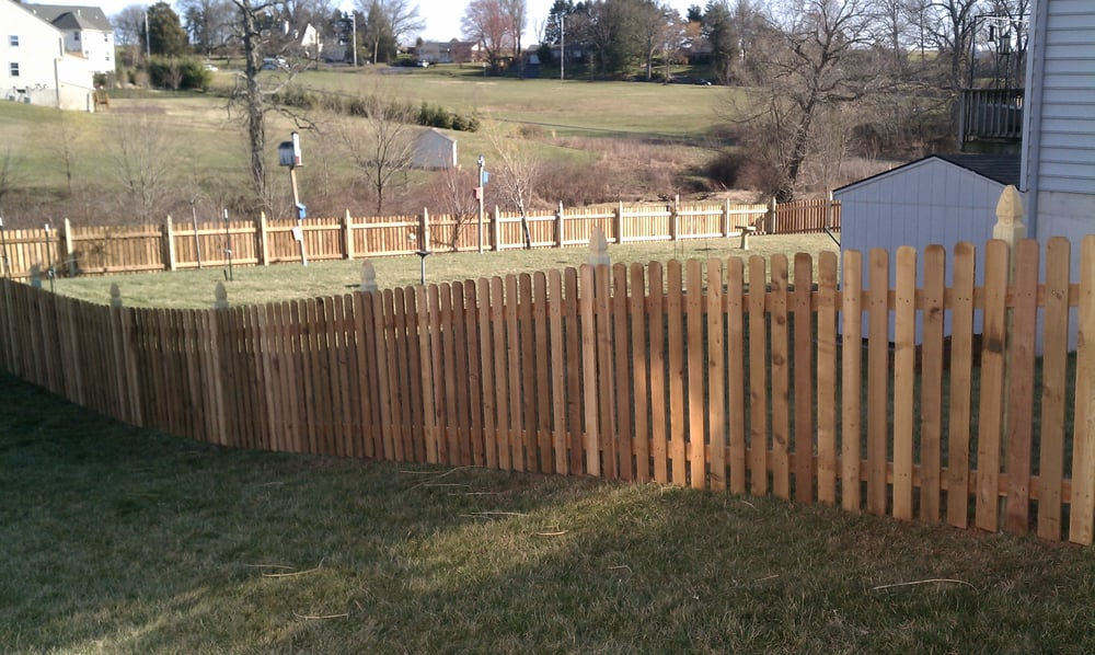 4ft high Red Cedar spaced picket fence with french gothic