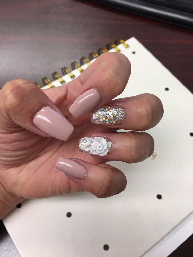 Nude coffin tip nails love it! Thanks Jenny! - Yelp