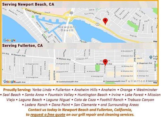 Laguna Beach Florida Map.Action Grill Service Fullerton Ca Major Appliances Mapquest