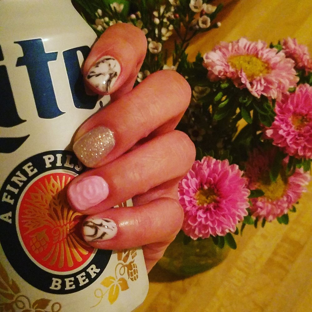 3Drose and marble gel mani wow! I am impressed. - Yelp