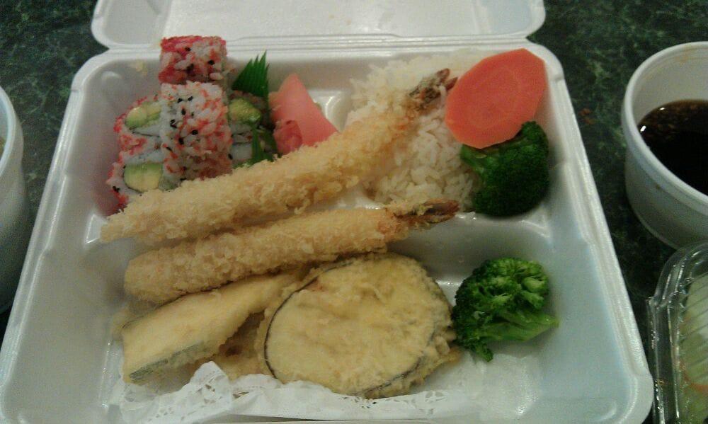 shrimp tempura lunch bento box close up yelp. Black Bedroom Furniture Sets. Home Design Ideas
