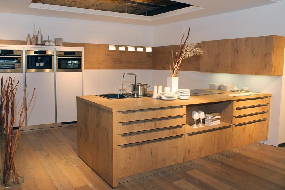 modern kitchen in wood finish, Bauformat, european kitchen cabinets ...