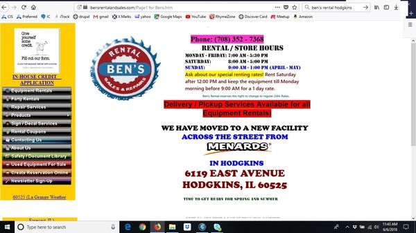 Hodgkins Il United States Map.Ben S Rental Sales 6119 East Ave Hodgkins Il Party Supplies