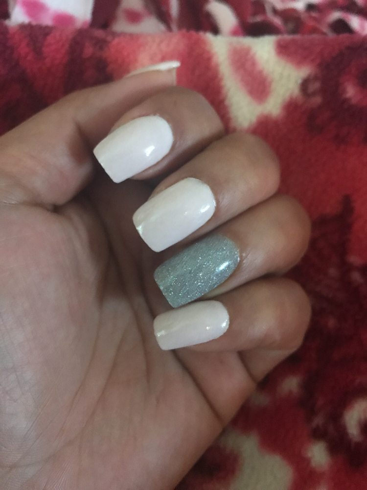 Love my new nails! Glad my nails are long enough so all is needed is ...