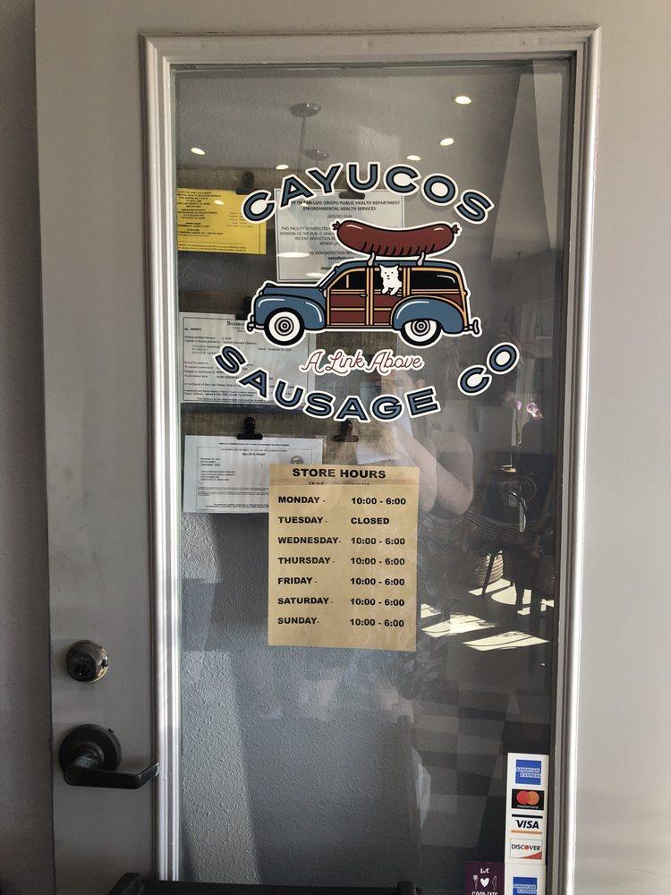 Cayucos Sausage: 12 N Ocean, Cayucos, CA