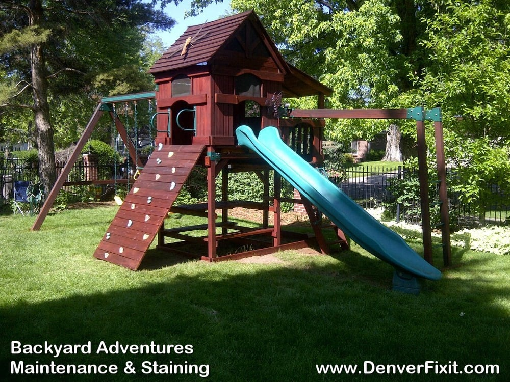 Photo of Denver Fixit - Littleton, CO, United States. Backyard Adventures  Playset Maintain - Backyard Adventures Playset Maintain And Stain Job. - Yelp