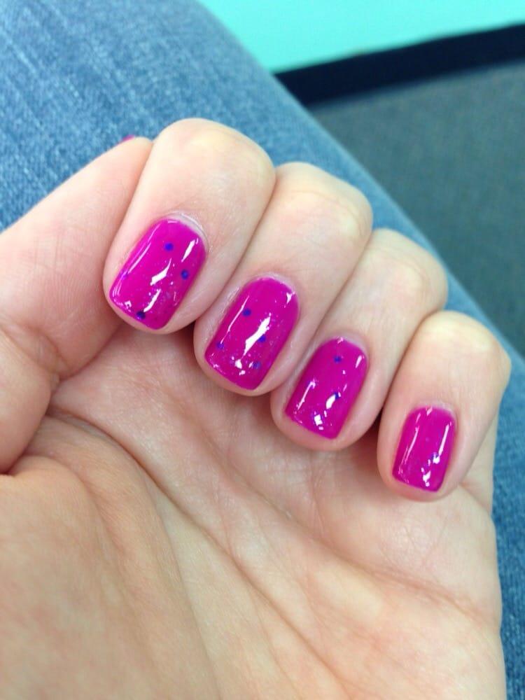 Gel Mani With Glitter Top Coat Yelp