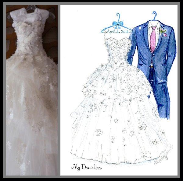 Dreamlines Wedding Dress Sketch: 200 Fox Creek Dr, O'fallon, MO