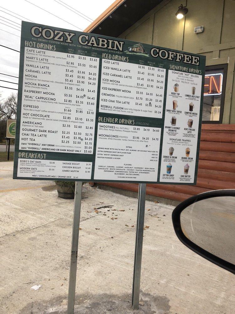 Cozy Cabin Coffee: 616 N Locust Ave, Lawrenceburg, TN
