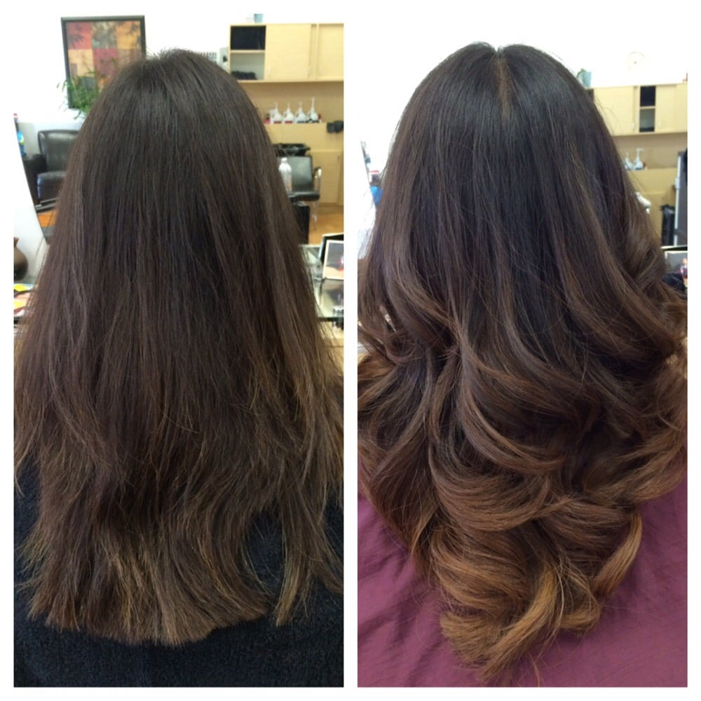 Sombre ombre balayage and haircut by kim yelp for Salon sombre