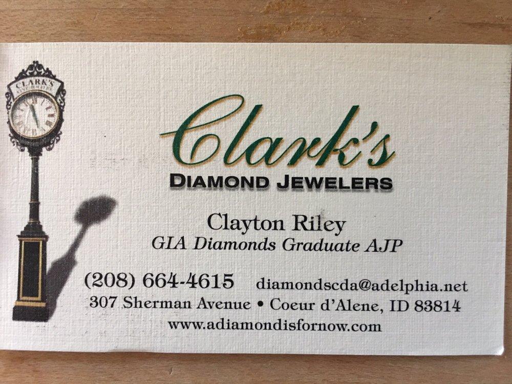 Clark's Diamond Jewelers: 307 E Sherman Ave, Coeur D Alene, ID