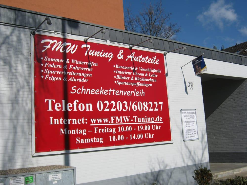Fmw Tuning & Autoteile - Auto Parts & Supplies - Heidestr. 39, Wahn ...