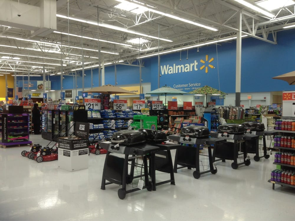 Walmart On North Keystone Front End The Checkout Lanes