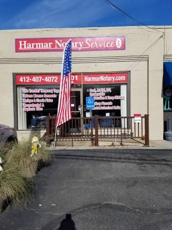Harmar Notary Service: 1315 Pittsburgh St, Cheswick, PA