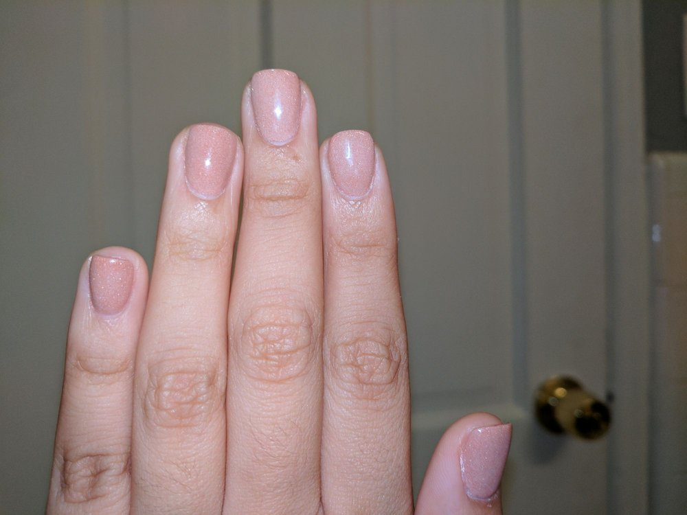 These are the SNS nails with gel top coat in the color #407 - Copper ...
