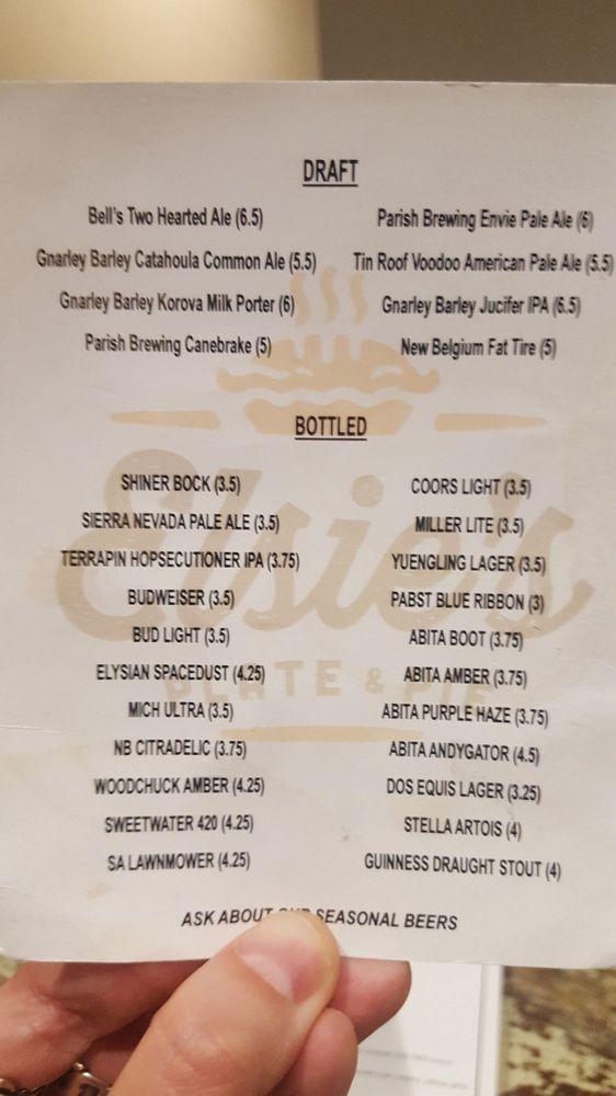 Photo of Elsieu0027s Plate u0026 Pie - Baton Rouge LA United States. Drink & Drink menu Jan. 2018. - Yelp