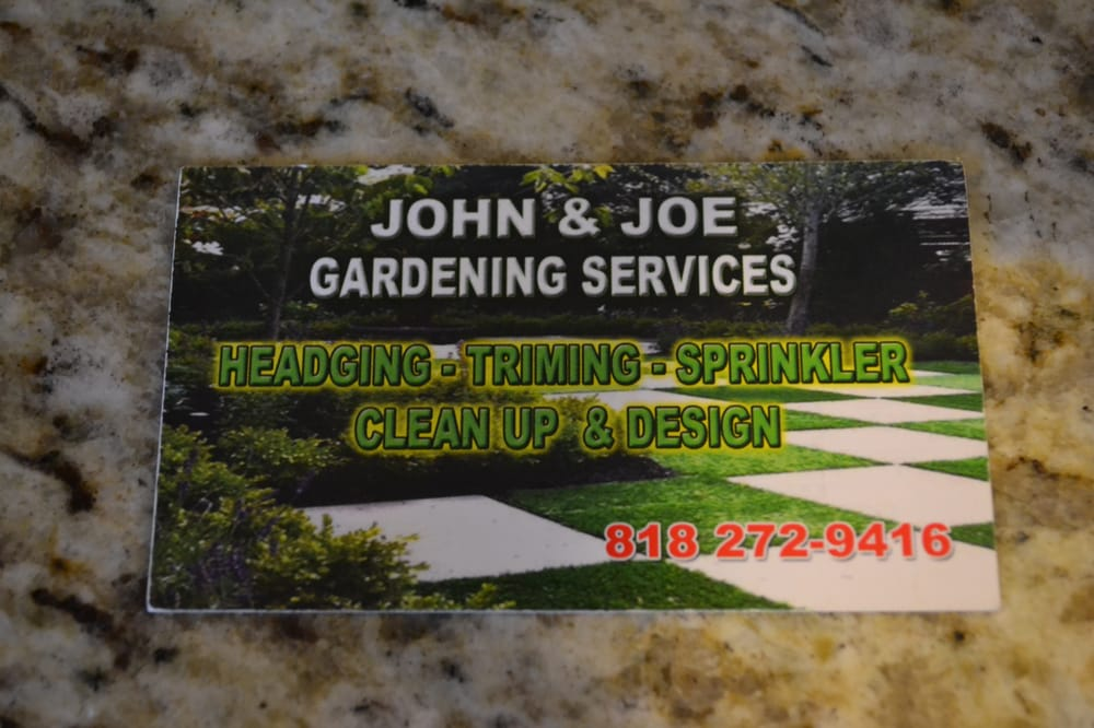 Double sided business card side 1 yelp photo of juan joel servicios de jardineria san fernando ca united states reheart Image collections