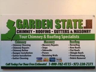 Garden State Chimney Roofing Gutters & Masonry   145 Louis St, Little Falls, NJ, 07424   +1 (973) 330-7371